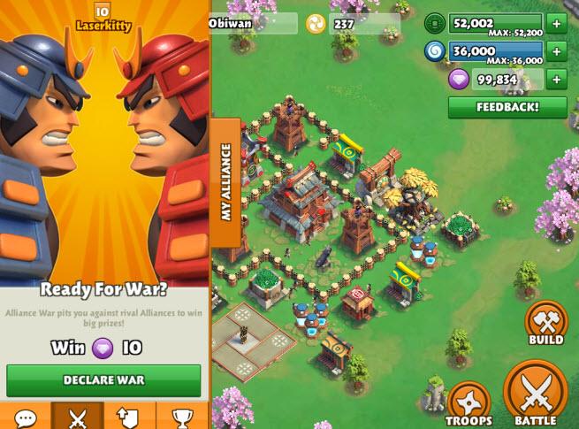 Samurai Siege on mobile