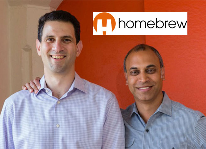 Homebrew founders Hunter Walk (left) and Satya Patel.