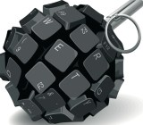 Keyboard grenade from Shutterstock
