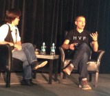 Serial entrepreneur Max Levchin on stage with Kara Swisher