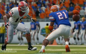 NCAA Football 14 in action.