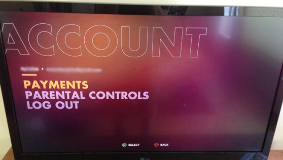 Ouya Account Screen