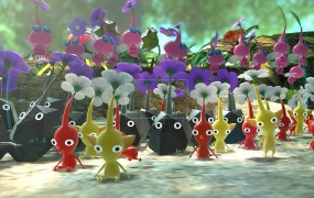 The titular creatures of Pikmin 3.