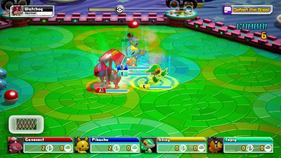 Wii U action-arena game Pokémon Rumble U.
