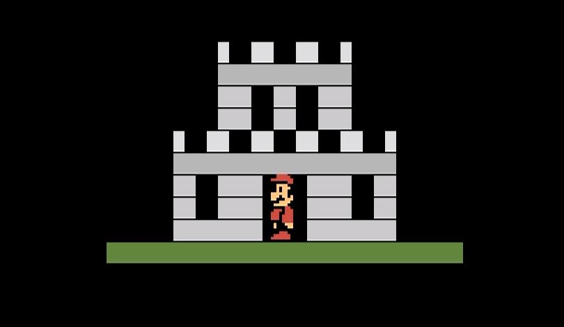 The homebrew remake of Super Mario Bros. for Atari 2600.