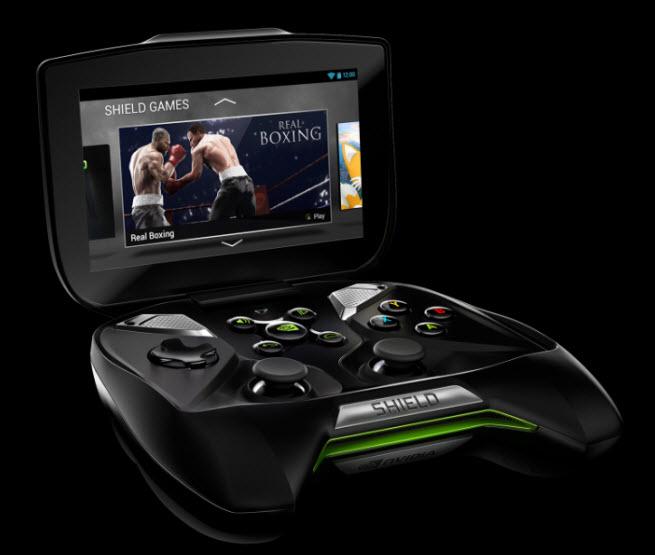 Nvidia's Android-based Shield handheld.