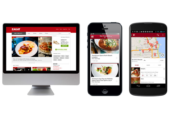 Zagat's new mobile apps and website