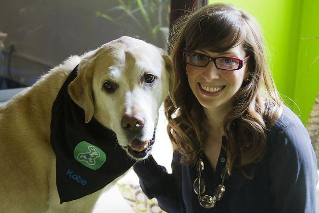 Founder Leah Busque and Kobe, the dog who inspired TaskRabbit.
