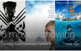 Google Glass movies showing