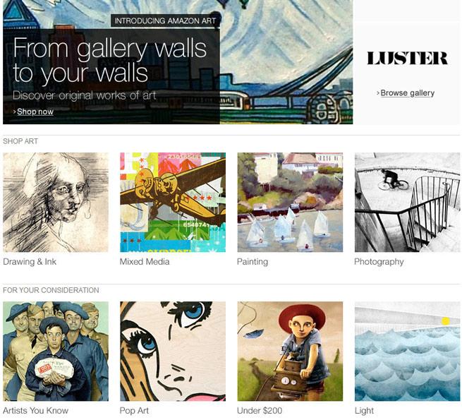 Amazon's new art marketplace