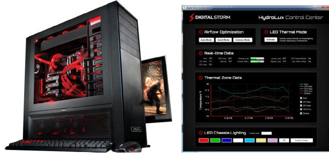 Digital Storm's HydroLux cooling system.