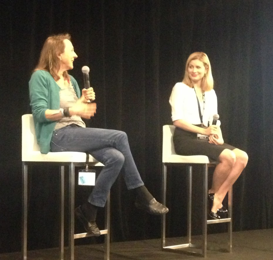Esther Dyson and VentureBeat reporter Christina Farr