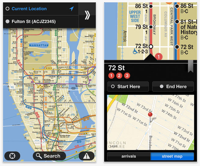 Embark's iOS transit app for NYC