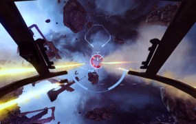 Early screens of Eve: Valkyrie in action.