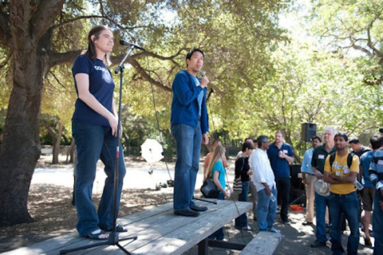 Coursera founders Daphne Koller and Andrew Ng