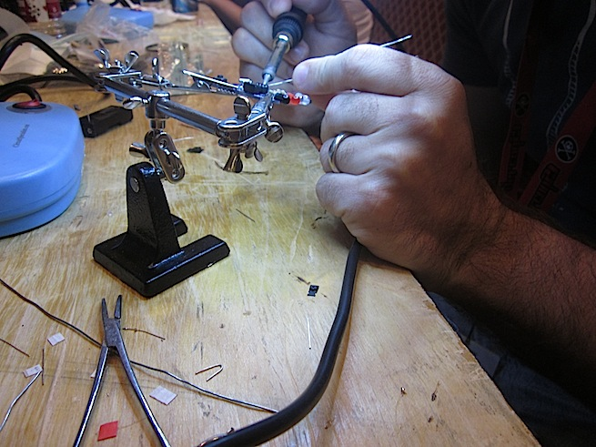Hardware hacking is intricate work