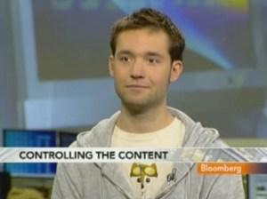 Alexis Ohanian's first appearance on Bloomberg TV's show InBusiness.