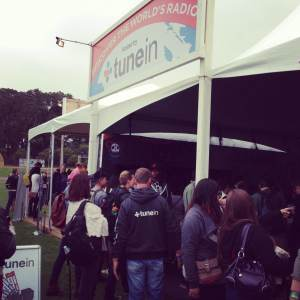TuneIn's packed booth