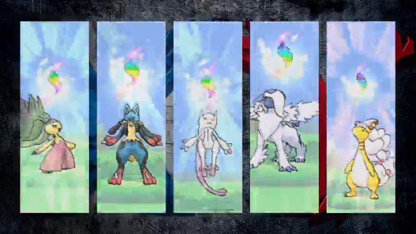 Pokémon X and Y's Mega evolved creatures.