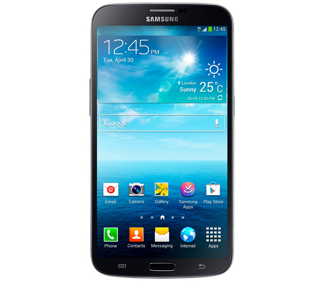 The 6.3-inch LSamsung Galaxy Mega has a 6.3-inch screen.