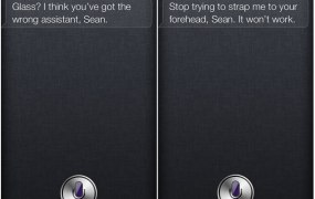 Siri doesn't like being confused for Google Glass