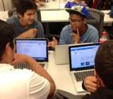 Teens working together at URBAN TxT.