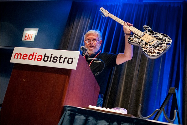 Avi Reichental of 3D Systems delivers a keynote presentation at Inside 3D Printing Chicago.