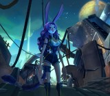 One of the character races from massively multiplayer online game Wildstar.