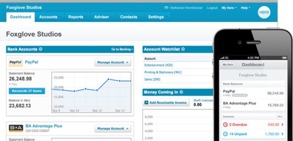 Xero's clean and innovative accounting software