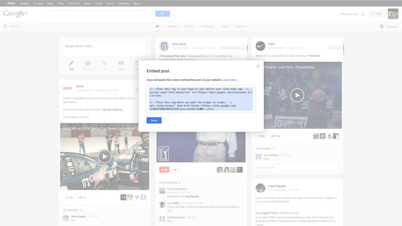 Google+ Features
