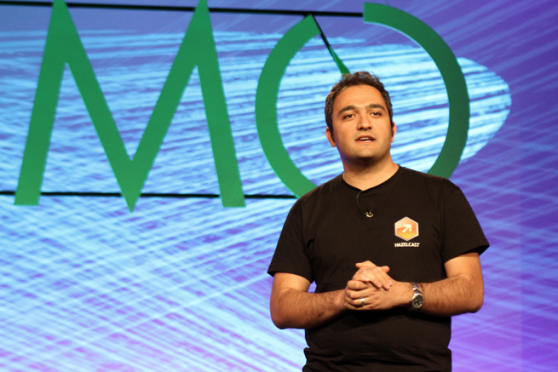 Hazelcast's founder Fuad Malikov at the DEMO conference