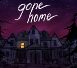 Gone Home's title screen.
