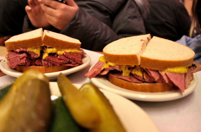 Corned beef on rye sandwich from NYC's Katz's Deli