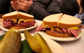 Corned beef on rye sandwich from NYC's Katz's Deli