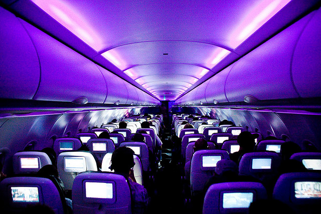 Virgin flight cabin