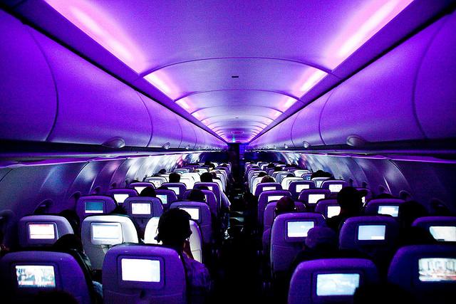 Virgin flight cabin