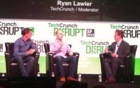 Lyft cofounders John Zimmer and Logan Green at TechCrunch Disrupt
