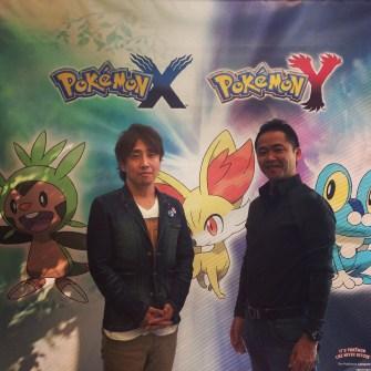 Pokemon developers Hironobu Yoishida and Junichi Masuda