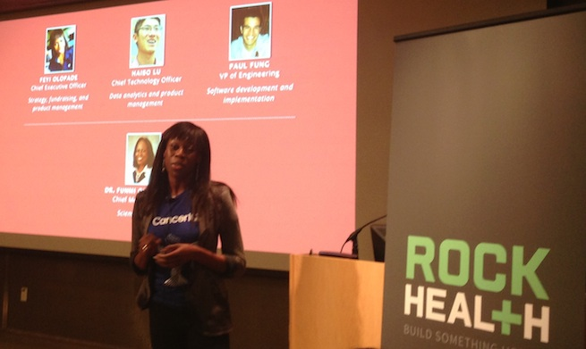 Feyi Olopade, the CEO of Rock Health startup CancerIQ