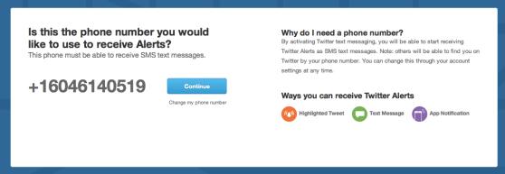 Twitter alerts