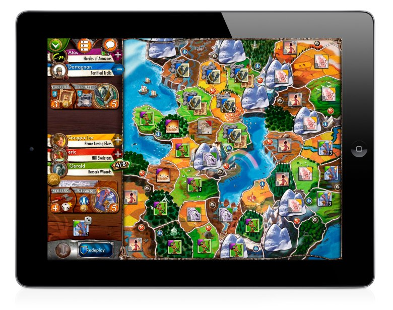 Days of Wonder's Small World 2 for iPad.