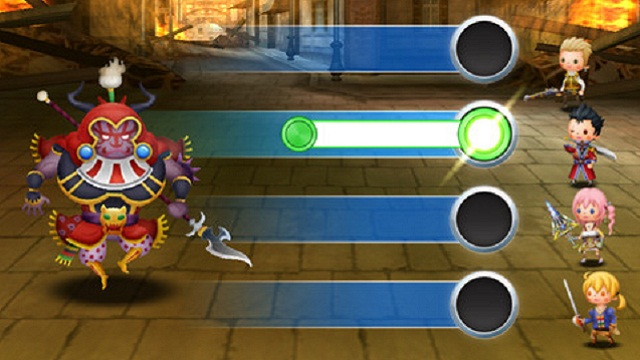 Square Enix's Theatrhythm Final Fantasy music game for 3DS and iOS.