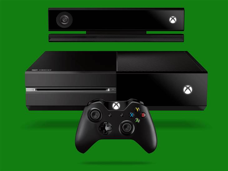 The horizontally oriented Xbox One.
