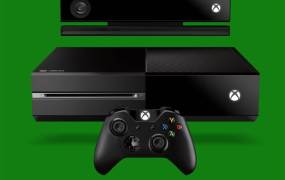 The horizontally oriented Xbox One.