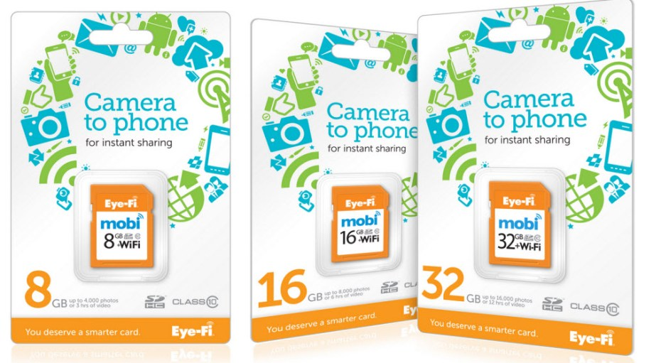 Eye-Fi Mobi cards let you instantly share photos to your phone.