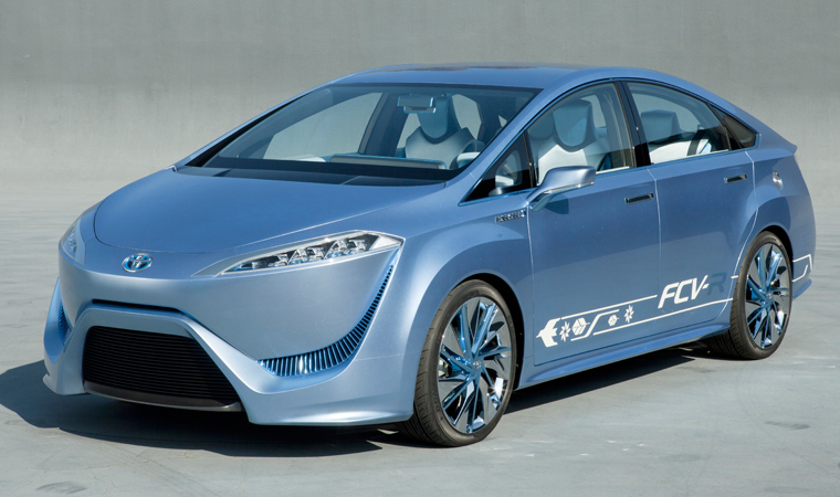 Toyota's concept hydrogen fuel cell car, the FCV-R.