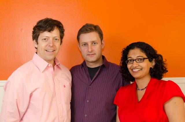 Level Up Analytics founders Jonathan Goldman, Lucian Vlad Lita, Anu Tewary