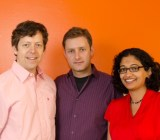 Level Up Analytics founders Jonathan Goldman, Lucian Vlad Lita, Anu Tewary