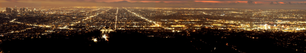 Hollywood and Los Angeles at night