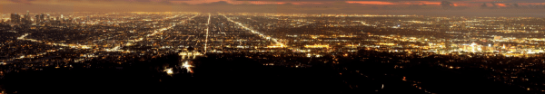 Hollywood and Los Angeles at night